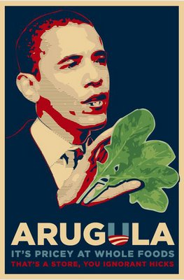 Arugula eaters for Obama