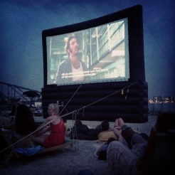 open air movie night